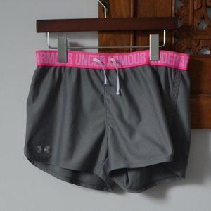 Under Armour Grey/Pink Workout Shorts